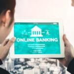 online bankovnictví na tabletu